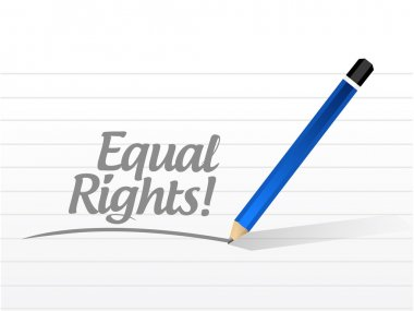 equal rights sign message illustration