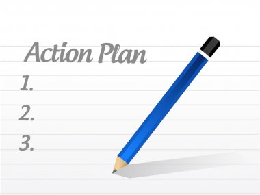 action plan list illustration design