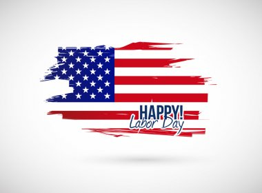 Labor day holiday flag sign illustration