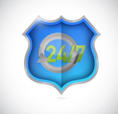 All day 24  7 customer support shield
