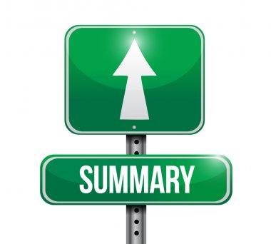 summary street sign illustration design