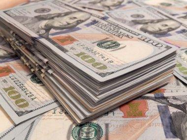 New one Hundred Dollar Bills stack