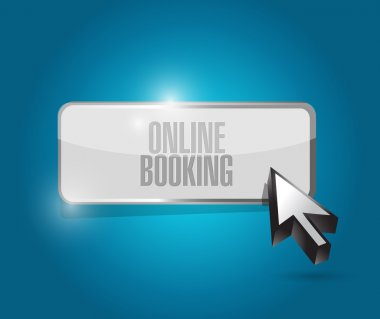 online booking button illustration design