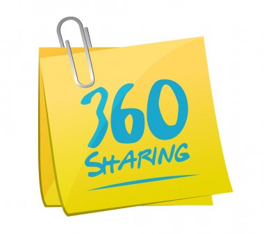 360 sharing memo post illustration