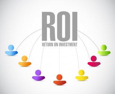 return on investment people network illustration