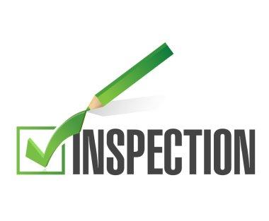 inspection check mark illustration design