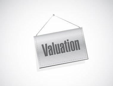 valuation hanging banner illustration design
