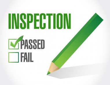 passed inspection check list illustration design