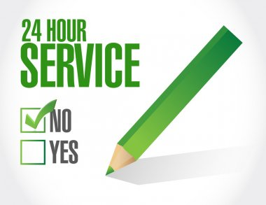 24 hour service check list illustration