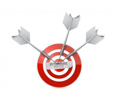 key performance indicator target illustration