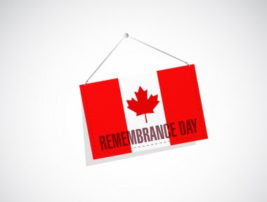 canada remembrance day banner sign illustration