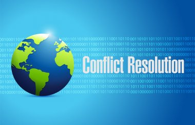 conflict resolution globe sign illustration design