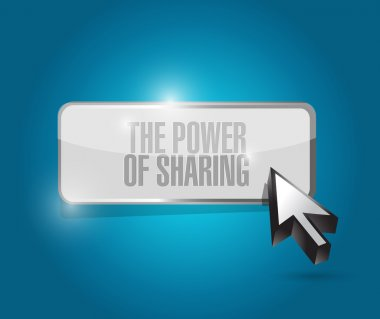 the power of sharing button illustration design