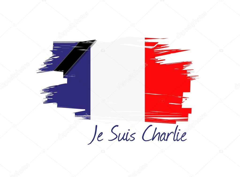 Je 性チャーリー フランス国旗イラスト デザイン ストック写真