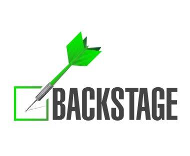 backstage check dart illustration design