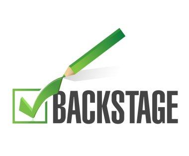 backstage check mark illustration design