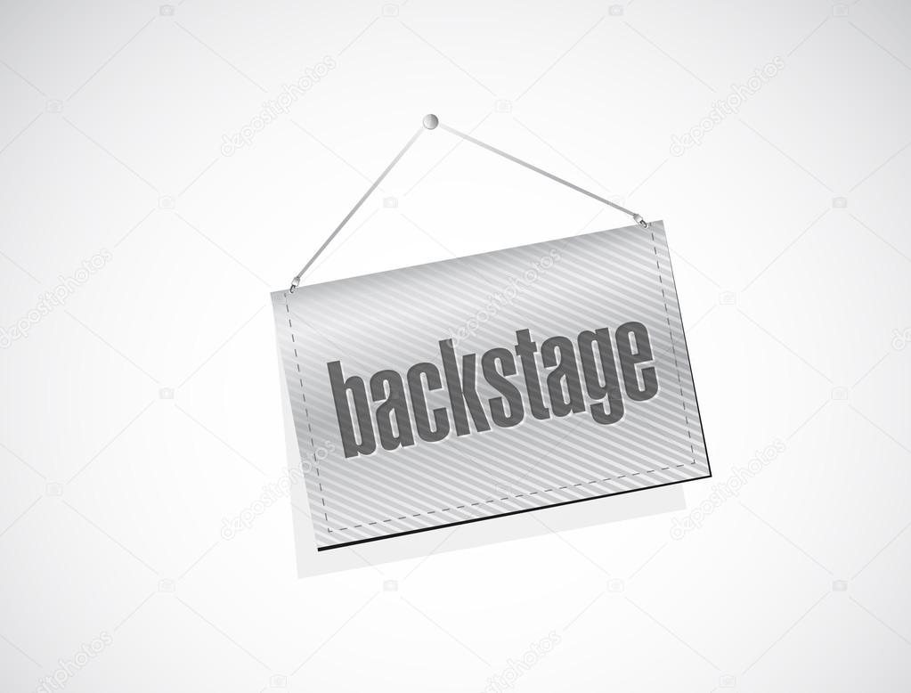 backstage hanging banner illustration
