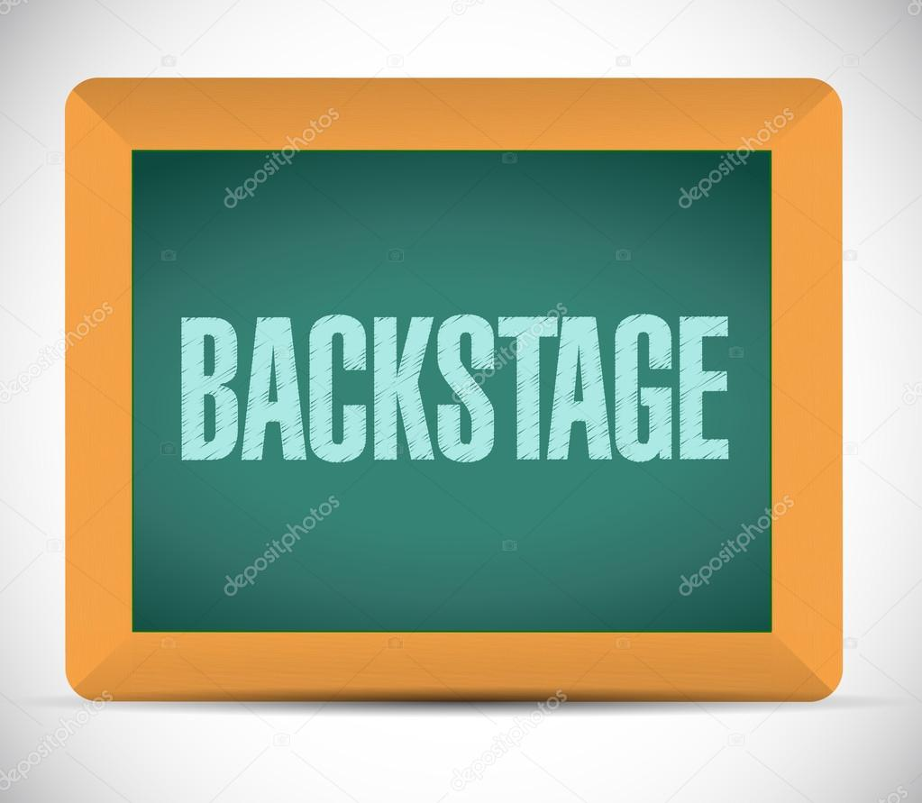 backstage board sign illustration design
