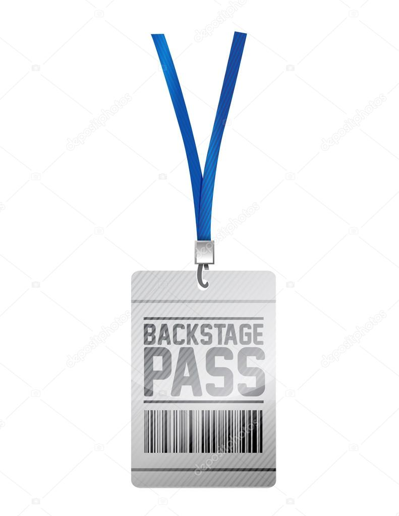 backstage pass tag illustration design