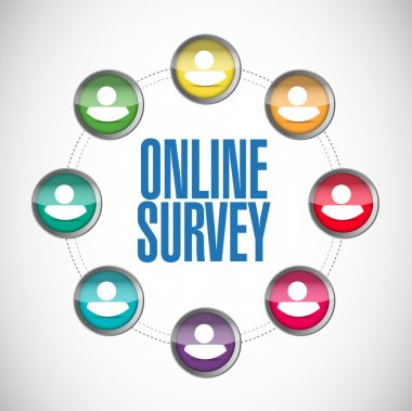 online people survey illustration