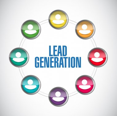 Lead generation people diagram illustration design
