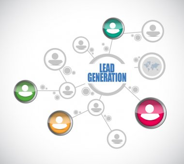lead generation people network illustration design
