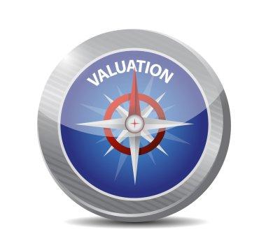 valuation compass illustration design