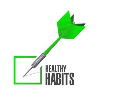 healthy habits check dart concept