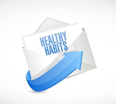 healthy habits envelope sign concept