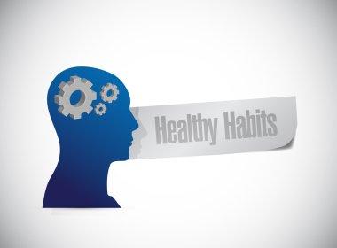 healthy habits brain sign concept