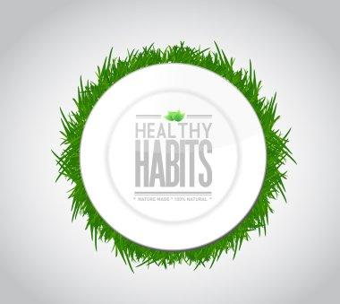 healthy habits plate sign concept illustration