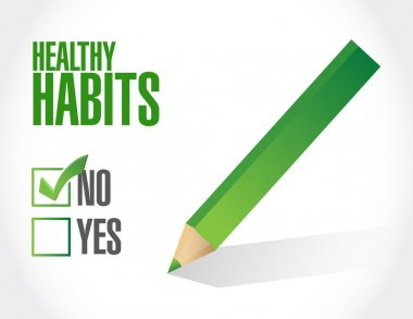 no healthy habits sign concept illustration