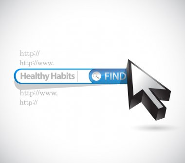 healthy habits search bar sign concept