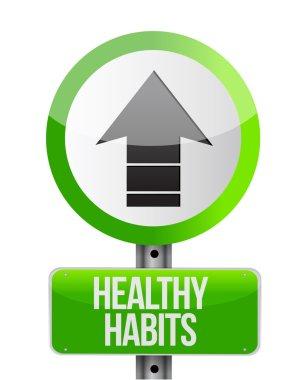 healthy habits sign concept illustration
