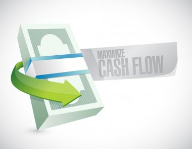 maximize cash flow money sign illustration
