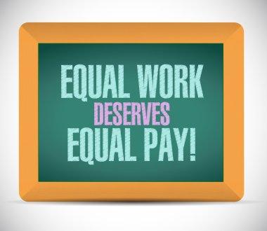 equal work deserves equal pay board sign