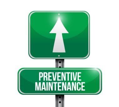 preventive maintenance road sign concept