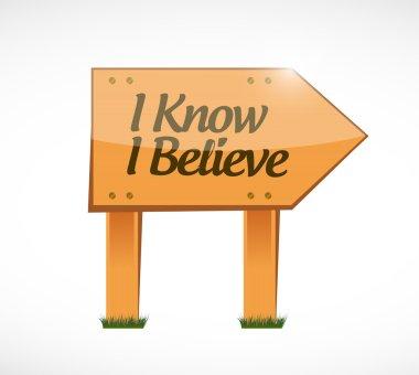 I Know I believe wood sign illustration design