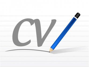 Cv, curriculum vitae message sign concept