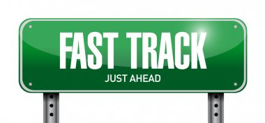 fast track road sign illustration design