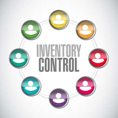 inventory control people network sign concept