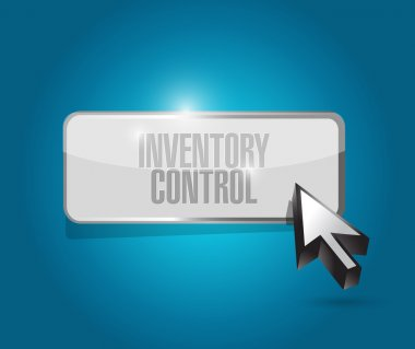 inventory control button sign concept