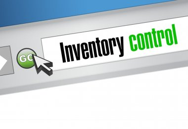 inventory control browser sign concept