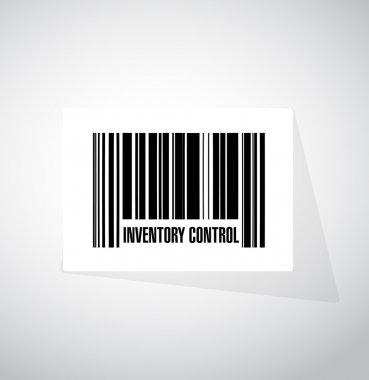inventory control upc code sign concept