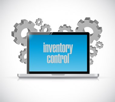 inventory control tech computer sign concept