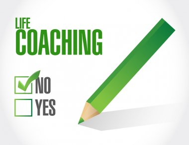 no life coaching approval sign concept