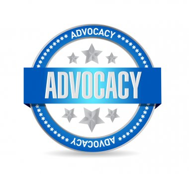 advocacy seal sign concept illustration
