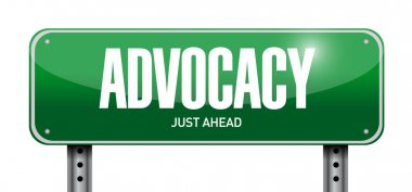 advocacy street sign concept illustration