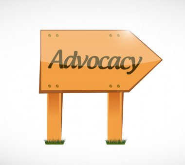 advocacy wood sign concept illustration