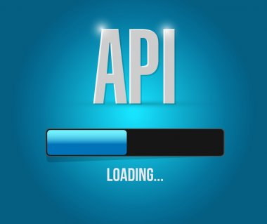 Api loading bar sign concept illustration